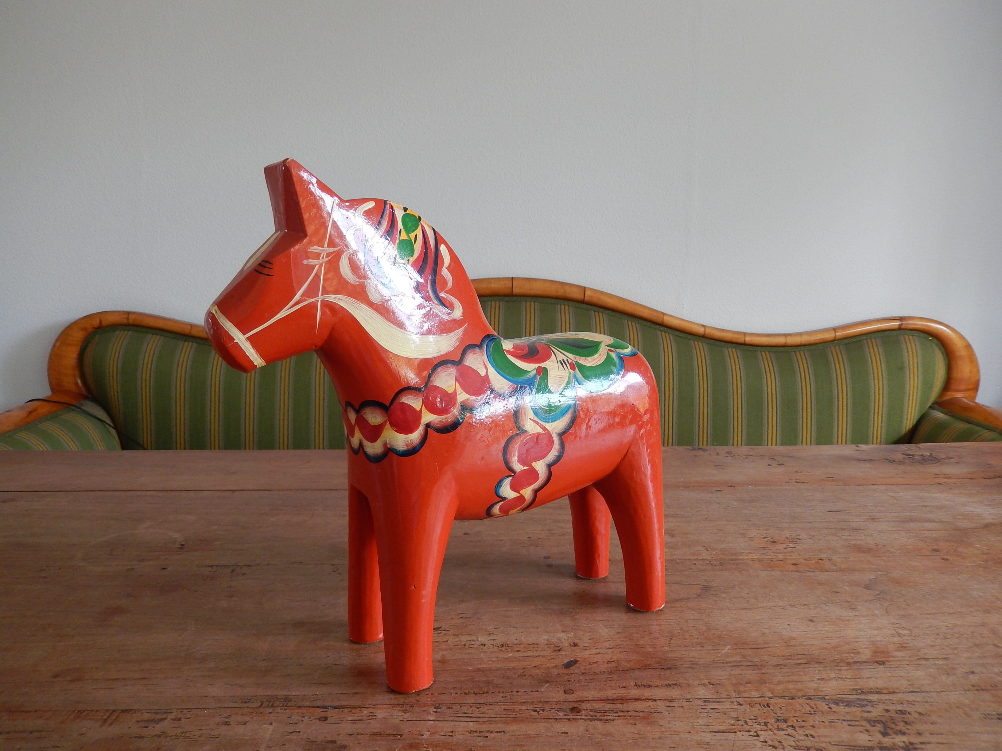 Origineel groot Dalarna paard